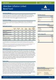 Inflation Linked Bond Fund January 2010.indd - Aberdeen Asset ...