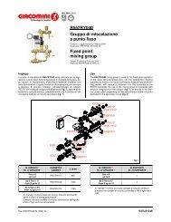 R557RY040 Gruppo di miscelazione a punto fisso Fixed point ... - Ika