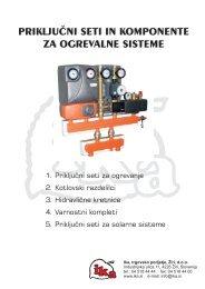Katalog priključnih setov in komponent za ogrevalne sisteme - Ika