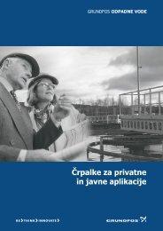 Črpalke za privatne in javne aplikacije