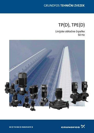 GRUNDFOS tehnični zvezek: TP(D), TPE(D) - Ika