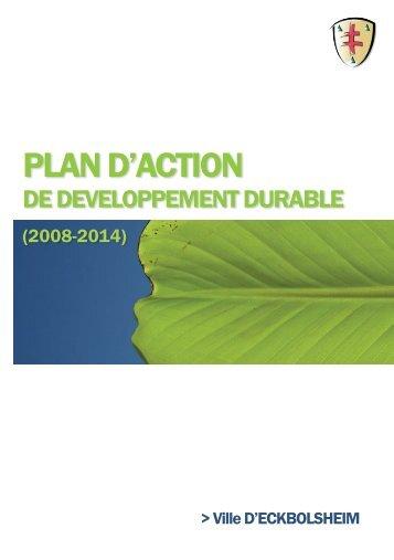 Télécharger ici le plan d'action de développement durable de la ...