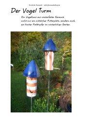Der Vogel Turm11 - Kocheler Keramik