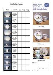 Bestellformular - Kocheler Keramik