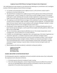 Participant Letter of Agreement
