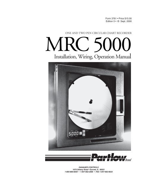 Partlow 1400 Single Loop Controller w// Enclosure and Cables