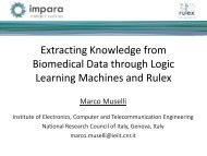 Extracting knowledge from biomedical data through Logic Learning ...