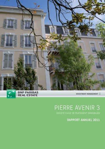 Rapport annuel - Pierre Avenir 3 - 2011 - BNP Paribas REIM