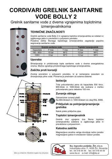 Grelnik tople vode Cordivari Bolly 2 - Ika