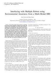 Interfacing with Multiple Robots using Environmental ... - ISR-Coimbra