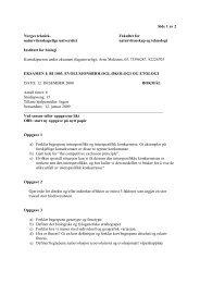 Side 1 av 2 Norges teknisk- Fakultet for ... - Institutt for biologi