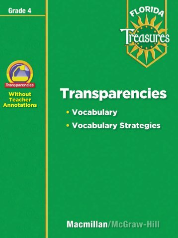 Transparency - Treasures - Macmillan/McGraw-Hill