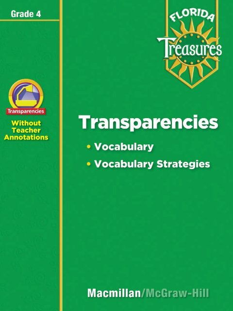 Transparency Treasures Macmillan McGraw Hill