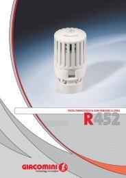 r452 testa termostatica con sensore a cera