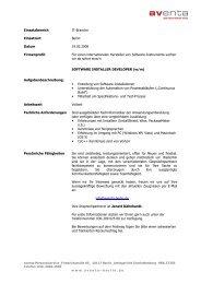 1805 Stellenausschreibung Software Anwendungsentwickler