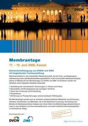 DVGW DWA Membrantage 2008 - Membrane guide