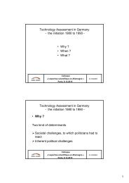 Technology Assessment in Germany - the initiation 1980 to ... - Avrist