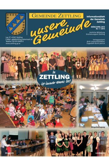 unsere Gemeinde unsere Gemeinde - Gemeinde Zettling