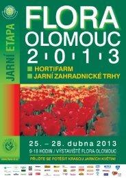 Leták s programem - Výstaviště Flora Olomouc, as