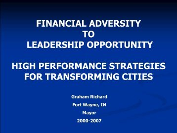 Building a High Performance City - Oklahoma Academy Home