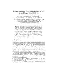 Reconfiguration of Cube-Style Modular Robots ... - Erik Demaine