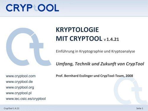 Kryptologische Bedeutung auf Englisch