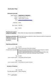 Curriculum base Europeo Dott. Tomassoli per nomine comune di ...