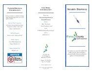 SHARPS Program Brochure - Pierce County