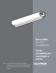 Sivoia QEDTM istruzioni d'installazione Tenda avvolgibile ... - Lutron