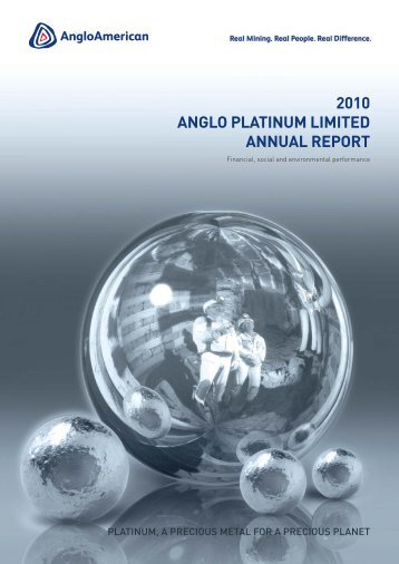 Pages from Anglo Platinum 2010 Annual Repot - Xstrata Technology
