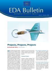 EDA Bulletin 10 - European Defence Agency - Europa