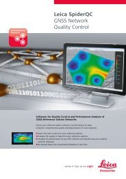 Leica SpiderQC GNSS Network Quality Control - GEFOS