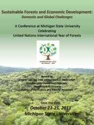 Sustainable Forests and Economic Development - Environmental ...