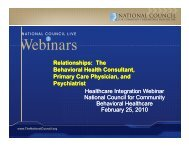 The Relationships: The Behavioral Health Consultant, Primary Care ...