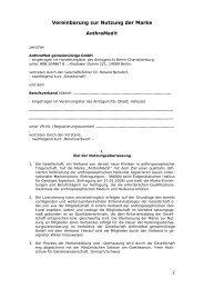 Internationaler Vertrag zur Nutzung von AnthroMed
