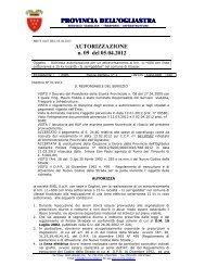 AUTORIZZAZIONE N 09 2012.pdf - Provincia dell'Ogliastra