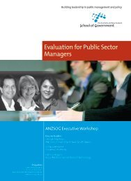 Evaluation for Public Sector Managers - Australia and New Zealand ...