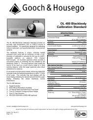 OL 480 Blackbody Calibration Standard - Gooch and Housego
