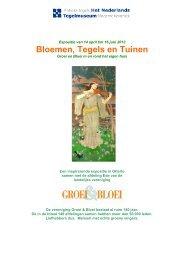 Bloemen, Tegels en Tuinen - Nederlands Tegelmuseum