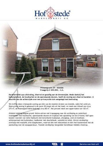 Prinsengracht 29 ~ Ameide - Hofstede Makelaardij