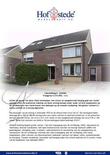 Liesveldweg 6 - Ameide - Hofstede Makelaardij