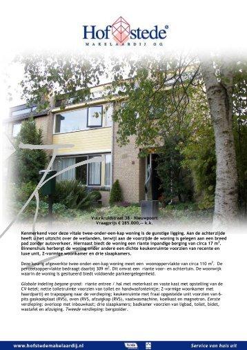 K Vuurkruidstraat 38 - Nieuwpoort Vraagprijs € 285.000,-- k.k. ...