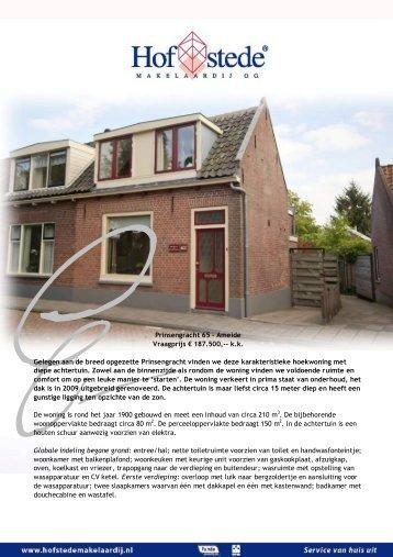 Prinsengracht 65 - Ameide - Hofstede Makelaardij