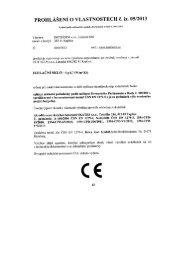 Prohlášení o vlastnostech č. iz. 05 2013 - ISOTHERM