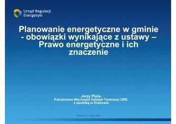 Planowanie energetyczne w gminie - obowiązki wynikające z ...