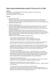 Zápis ze zasedání Akademického senátu FF OU ... - Filozofická fakulta