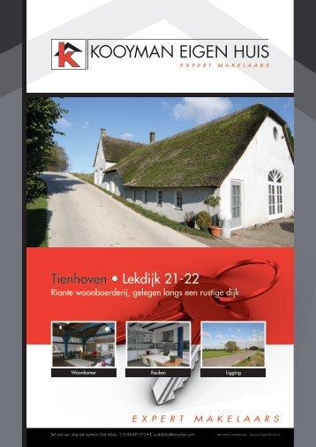 Tienhoven • Lekdijk 21-22 - Kooyman Eigen Huis