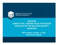 NUCLEAR LIABILITY 101: ADDING VALUE TO ... - Burges Salmon