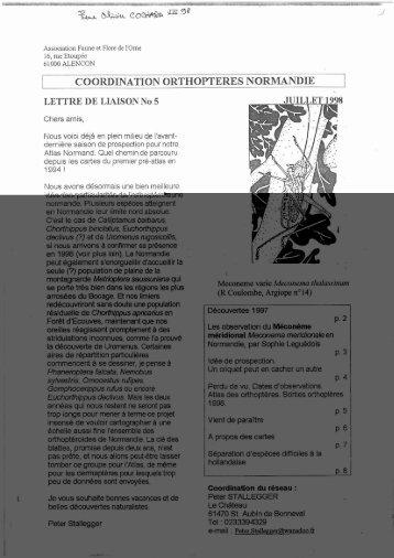 COORDINATION ORTHOPTERES NORMANDIE - Gretia