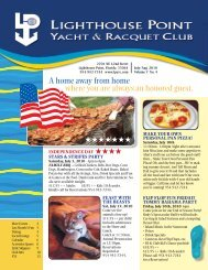 July/August 2010 - Lighthouse Point Yacht and Racquet Club